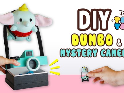 DIY Dumbo & Mystery Camera Storage Box(FREE PATTERN) Collab with Kawaii Felting - Tsum Tsum Plushie