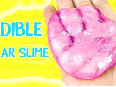DIY Edible Clear Crystal Slime!!