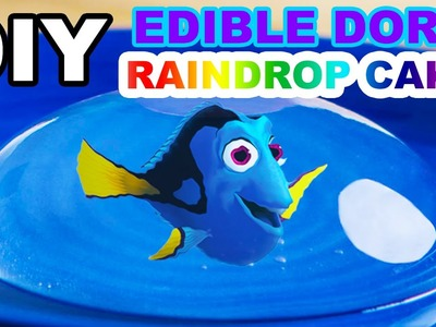 DIY EDIBLE DORY AND NEMO RAINDROP CAKE