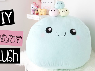 DIY Giant Plush Pillow - Room Decor