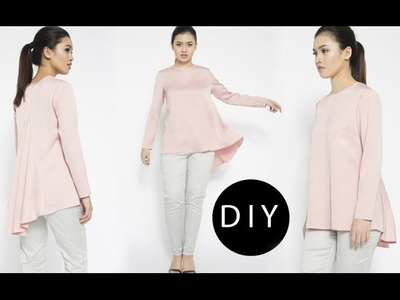 DIY Hi-low Draped Blouse