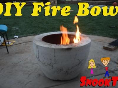 DIY Homemade Concrete Fire Bowl!