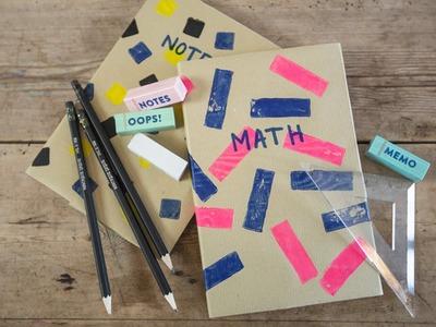 DIY: How to cover school books (2) by Søstrene Grene
