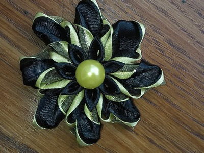 DIY.MK.Tutorial.Kanzashi.Ribbon.Flower: bricoart.kam