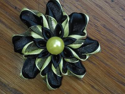 DIY.MK.Tutorial.Kanzashi.Ribbon.Flower: bricoart.kam
