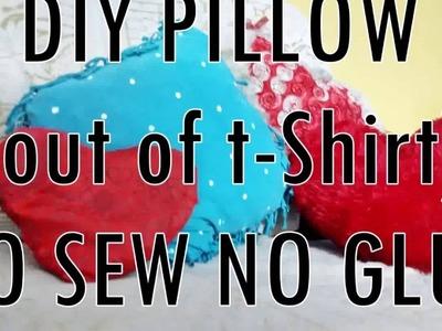 DIY PILLOW - NO SEW, NO GLUE