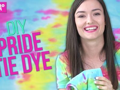 DIY Pride Tie Dye Shirts | KindaTV ft. Natasha Negovanlis