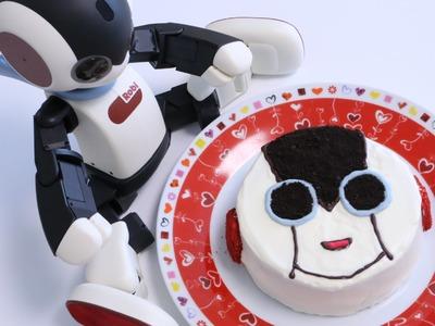 DIY Robot Robi Oreo Birthday Cake ~Cooking with Robot
