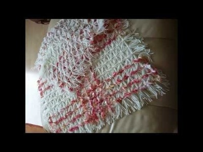 DIY WEAVING LOOM - STEP BY STEP TUTORIAL - PART 1 MAKE A SHAWL AND DIAGONAL WEAVING