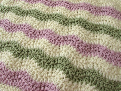 How to crochet a chevron. wave blanket for beginners