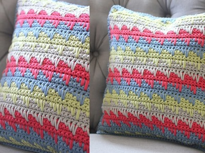 How To Crochet a Pillow: Spike Stitch by Repeat Crafter Me