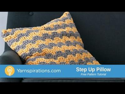 How to Crochet A Pillow: Step Up Pillow