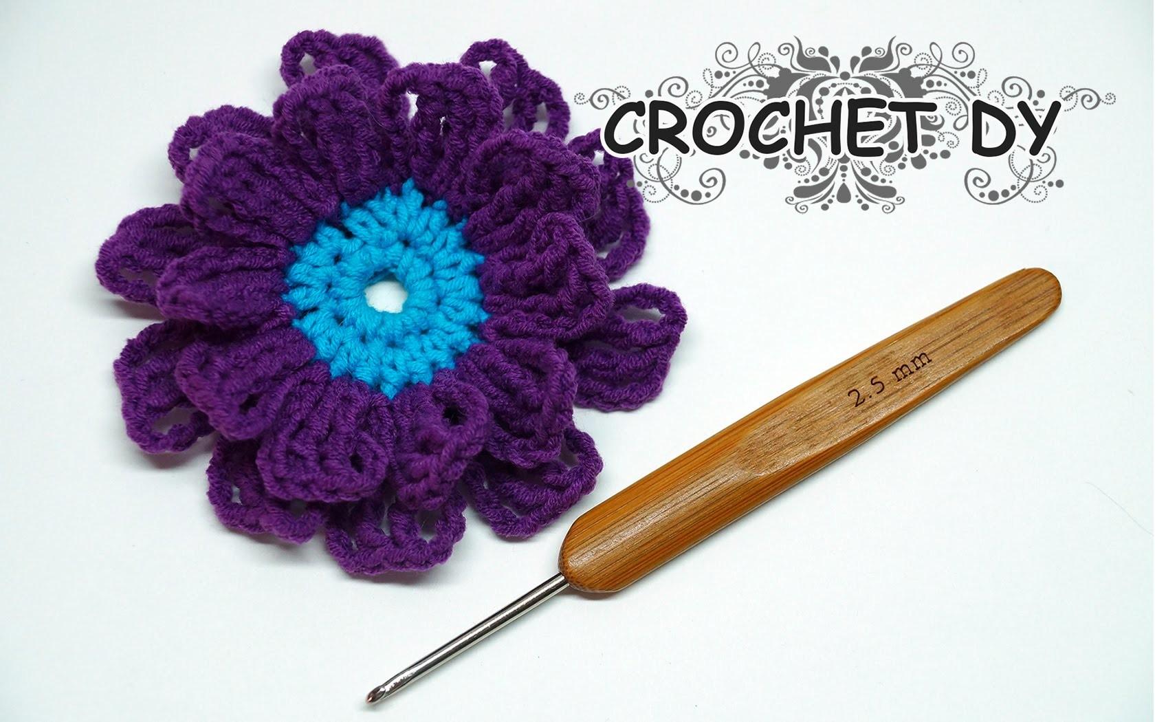 Вязание крючком цветы легко