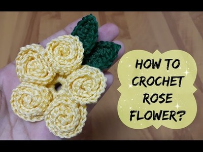 How to crochet rose stitch flower? | !Crochet!