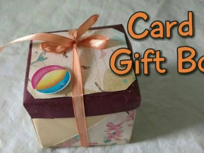 How To Make Mini Card Gift Box   DIY Paper Gift Box  Craftlas
