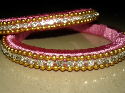 How to make Silk Thread Bangles-DIY-MYWORLD JANU