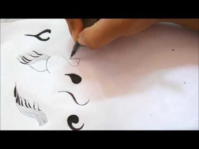 Learn heena basics | #3 DIY Henna Design |  Learn Henna.Mehndi Tutorial
