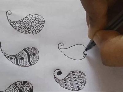 Learn heena basics | #6 DIY Henna Design | How to make Pasley Designs Henna.Mehndi Tutorial