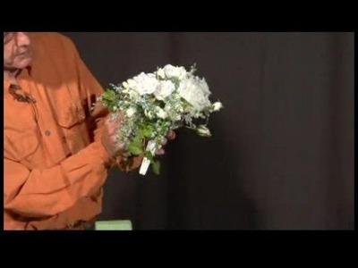 Making Silk Bridal Bouquets : Adding Greenery to Silk Bridal Bouquet