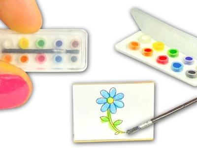 Miniature Watercolor Set DIY (actually works!) - Art Supplies - YolandaMeow♡
