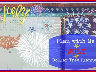 Plan With Me in my DIY Dollar Tree Planner - July