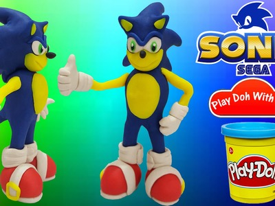 Play Doh Tutorial How To Make Sonic With Play Doh DIY - Play Doh With Me!