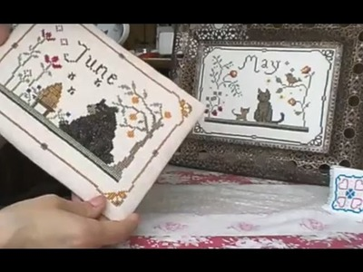 Cross stitch, floss tube - how to framing tutorial