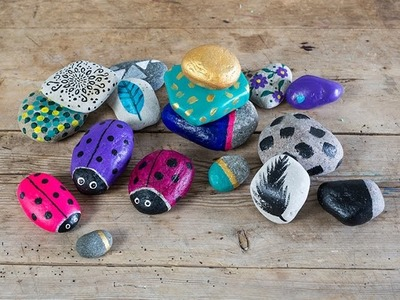 DIY: How to paint on large pebbles by Søstrene Grene