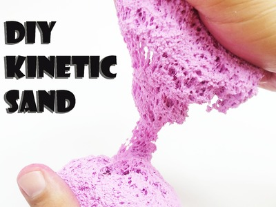 DIY Kinetic Sand - How to Make Pink Kinetic Sand
