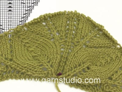 DROPS Knitting Tutorial: How to work the beginning of the shawl in DROPS 169-29