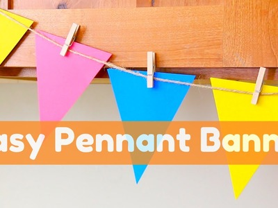 Easy Pennant Banner: How to Cut 8 Pennants from one 12x12 paper
