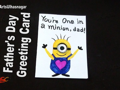 Father's Day Minion Card Tutorial | How to make | JK Arts 968