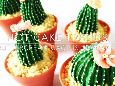 HOT CAKE TRENDS 2016 Buttercream Cactus cupcakes | Cacti cupcakes - How to make by Olga Zaytseva