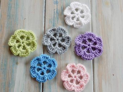 How To Crochet Wheel-Spoke Flower