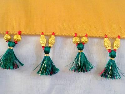 How to do Saree Kuchu with Beads - Design 2