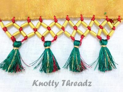 How to do Saree Kuchu with Beads- Design 5