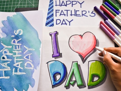 How to Draw Happy Birthday Picture to DAD| I Love DAD| Step by Step