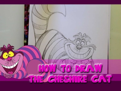 How to Draw the CHESHIRE CAT from Disney's Alice in Wonderland - @dramaticparrot
