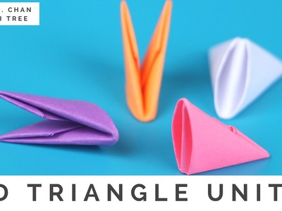 How to Fold 3D Origami Pieces - Make the 3D Origami Triangle Units (3D Origami Basics)!