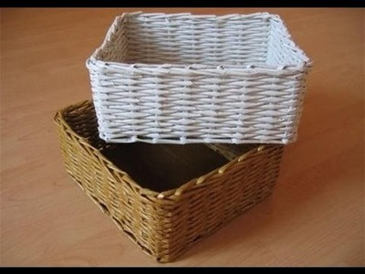 How to make a basket using old paper - Amazing paper origami tutorial