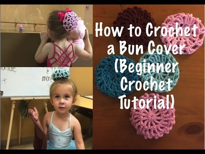 How to Make a Crocheted Bun Cover ( Beginning Crochet Tutorial by Ferdalump )
