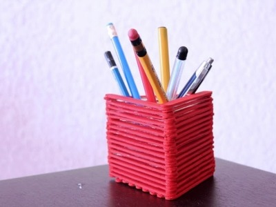 How to make a pen holder using paper - Amazing paper origami tutorial