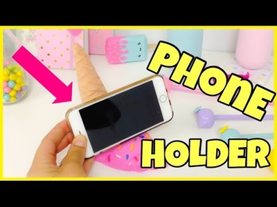 HOW TO MAKE A PHONE HOLDER(Phone stand)ICE CREAM CONE
