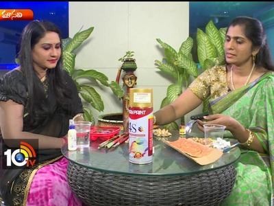 How To Make Agarbatti Stands with Pista Shells | Artist Aparna | Sogasu | Manavi | 10TV