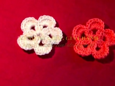 How To Make Easy Flower In Crochet At Home | How To Crochet a Simple Flower tutorial