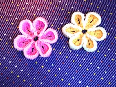 How To Make Easy Flower In Crochet At Home | How To Crochet a Flower | Easy Crochet Flower