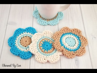 How To Make Flower in Crochet Step By Step | DIY Learn How To Crochet Easy Flower