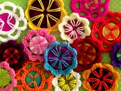 How To Make Flower in Crochet Tutorial | How To Crochet a Simple Flower