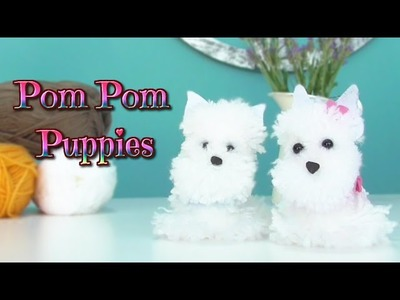 How to make pom pom puppies dog - pompon yarn westy - Isa ❤️