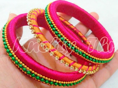 How to make Silk Thread Bangle - Design 4